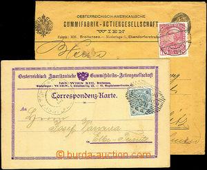40208 - 1900-10 firemní dopisnice a dopis fy Österreichisch-Amerik