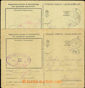 40217 - 1942 HUNGARY 2 cards Hungarian field post with CDS Tabori Po