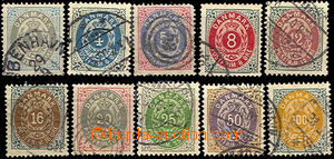 40255 - 1875 Mi.22-31 Numeral in Oval, 1x T II. (No.28), otherwise T