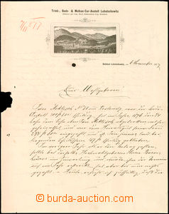 40282 - 1877 commercial letter bath Luhačovice with heading and pict