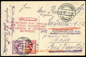 40296 - 1930 photo postcard Zeppelin Graf Zeppelin sent flight ...au