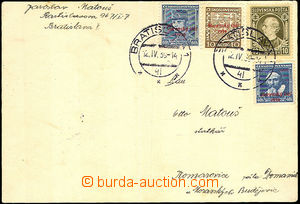 40328 - 1939 card addressed to to Bohemia-Moravia franked with. i.a.