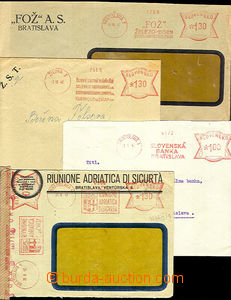 40382 - 1942-45 SLOVAKIA  comp. 4 pcs of envelopes with meter stmp R