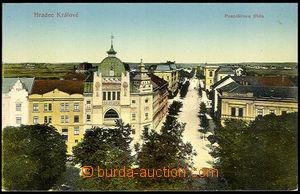 40385 - 1920 Hradec Králové - Palacky Street, view of synagogue. Un,