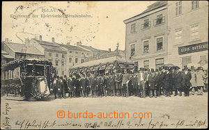 40400 - 1909 Jihlava, ceremonial opening transport electric railway,