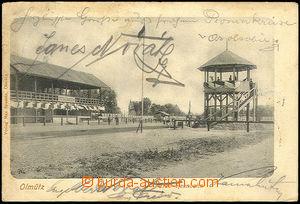 40463 - 1904 HORSERACING, horseracing track in Olomouc long address,