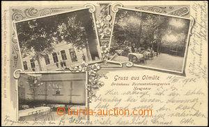 40464 - 1901 Olomouc,  brewery, open-air restaurant, interior. long