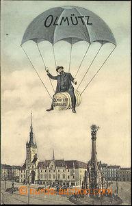40465 - 1905 Olomouc,  collage, man with balením olomouckých tvar�