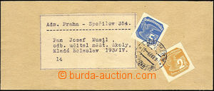 40540 - 1939 whole newspaper wrapper, franked with. mixed franking n