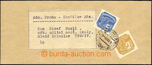 40540 - 1939 celá novinová páska, vyfr. smíšenou frankaturou no