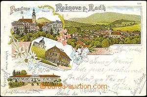 40557 - 1898 Rožnov pod Radhoštěm,  litografie, náměstí, léč