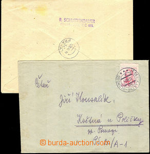 40571 - 1945-54 Reg letter and uprated PC CDV76, both entires with s