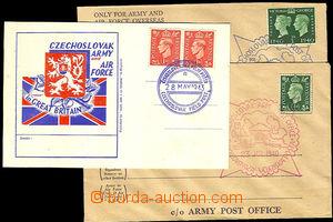 40581 - 1940-43 dvě služební obálky britské polní pošty s vyl