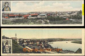 40583 - 1912 BĚLEHRAD - 2x barevné panorama, různé záběry, upr