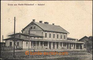 40585 - 1920 Mikulovice - Niklasdorf, railway-station,  B/W single-v