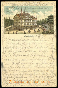 40601 - 1898 Karlsbad, lithography, long address, Us.