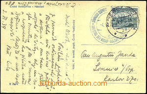 40602 - 1939 postcard franked with. forerunner Czechosl. stmp Pof.34