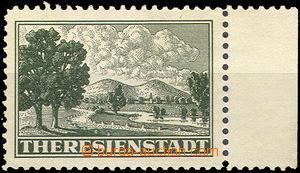 40608 - 1943 Pof.Pr1A známka s pravým okrajem, malá stopa po nál