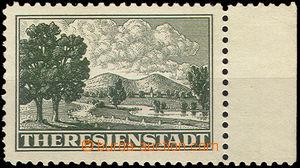40609 - 1943 Pof.Pr1A známka s pravým okrajem, neověřeno, v lepu