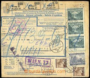 40637 - 1941 poštovní průvodka bez levého útržku, vyfr. zn. Po