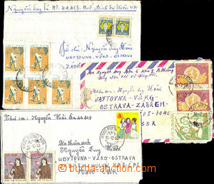 40644 - 1982-83 comp. 3 pcs of letters addressed. to Czechoslovakia,