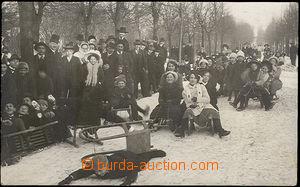 40678 - 1911 VALAŠSKÉ MEZIŘÍČÍ - sáňkařská dráha ve Vala�