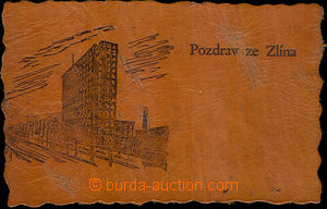 40685 - 1930 Salute from Zlín, postcard from right leather, Un. Int