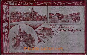40686 - 1901 Valašské Meziříčí - pohlednice se stříbrnou fó