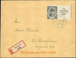 40692 - 1939 R-dopis vyfr. vpředu souběž. zn. Pof.325KP a vzadu přet