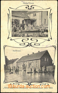 40699 - 1903 Brody (Gross-Blumberg), Poland - flood, people in the s