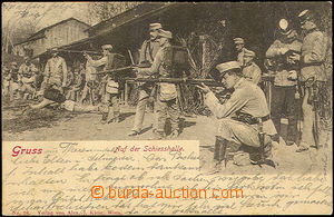 40954 - 1903 soldiers Austria-Hungary army on/for střelnici, black-