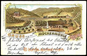 40968 - 1899 Mückenmühle - pub, railway-station Smilov (Schmeil),