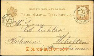 40979 - 1886 dopisnice Mi.P15 s 2jazyčným textem, bez průsvitky,
