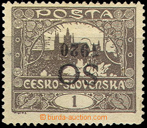 40991 -  Pof.SO1B Pp, inverted overprint at value 1h, lightly hinged