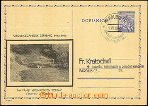 41017 - 1945 CDV76 with black additional-printing Pardubice - Small