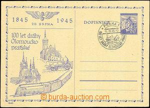 41018 - 1945 CDV76 with blue additional-printing 100 years railway O