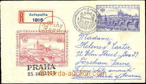 41032 - 1955 COB8 jako R s dofr. do USA (známky nalepeny vzadu), R-