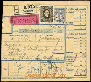 41035 - 1944 larger part stamped parcel průvody, sent Ex, with 3 Ko