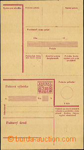 41044 - 1949 stationery CPV17, complete, folded in/at pin hole, pape