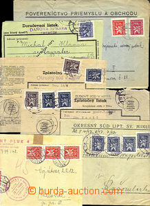 41058 - 1946-48 comp. 11 pcs of entires franked with. service stmp b