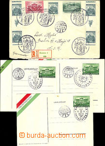 41066 - 1938 4 pcs of entires with postmarks return VISSZATÉRT, 3x U