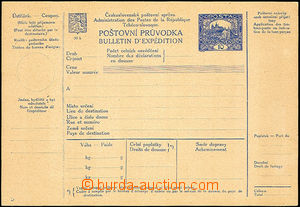 41092 - 1920 CPP14, Czech - French text, mark D, LL corner wrinkled,