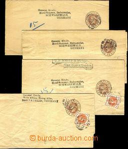 41113 - 1888? sestava 4ks soukromých novinových pásek s vytiště