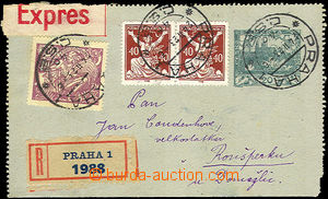 41116 - 1923 CZL1 Pa without margins, sent as Reg and Express, uprat
