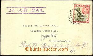 41124 - 1949 Let-dopis do ČSR, vyfr. zn. Mi.207, částečné DR Air ?/