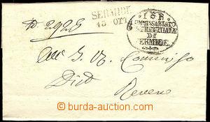 41133 - 1849 folded letter with black postmark Sermide/ 13.OTT. + de
