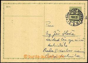 41167 - 1939 předběžná dopisnice 50h Znak s předběžným razí