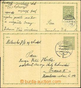 41168 - 1939 CDV65 jako předběžná, DR Milevsko/ 7.VIII.39 a DR P