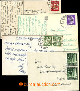 41169 - 1925-42 DANZIG  4 pcs of entires with postmarks and stamps,
