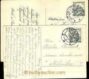 41172 - 1939 2x pohlednice s předběžnými razítky VLP, č.66a PR